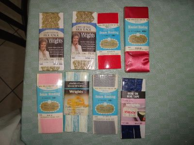 8 PACKS OF SEWING NOTIONS