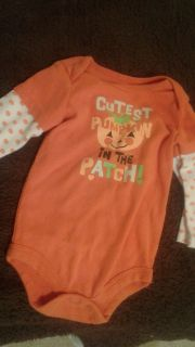 Girl's size 12 mo long sleeve onesie cutest pumpkin in the patch $1