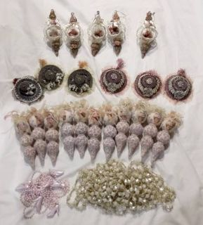 Victorian Ladies Christmas Ornaments and Garlands