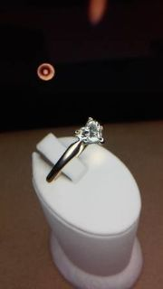 Large solitaire heart Diamond ring