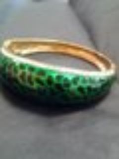 GP Swarovski Bangle Green