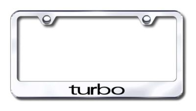 Buy Turbo Engraved Chrome License Plate Frame -Metal Made in USA Genuine motorcycle in San Tan Valley, Arizona, US, for US $30.98