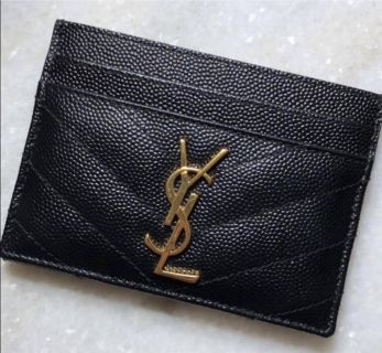 YSL leather card wallet