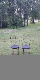 2 BISTRO CHAIRS (No table)