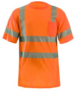 NEW-OccuNomix 2X Classic Standard Dual Stripe Short Sleeve Wicking T-Shirt with Pocket
