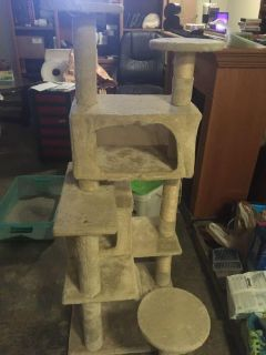Small cat tree with scratching post