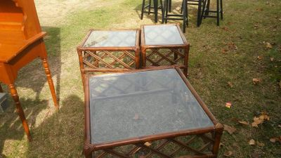 Coffee table and end tables