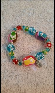 Kate & Macy hand painted bead bracelet. Like new condition