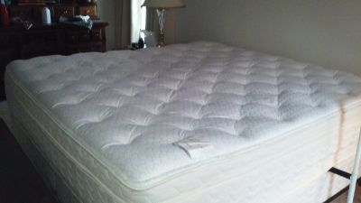 Miralux Olympus King size bed. 18 inch mattress,