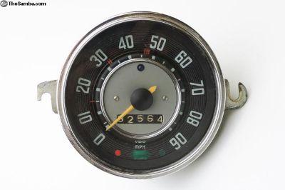 Original VDO Bug / Beetle Speedometer 2.66 (miles)
