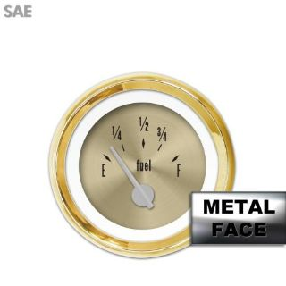 Purchase Fuel level Gauge - American Classic Gold VII, Silver Modern Needles, Gold Trim motorcycle in Portland, Oregon, United States, for US $29.25