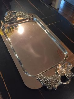 Beautiful Silver Plated Vintage Tray