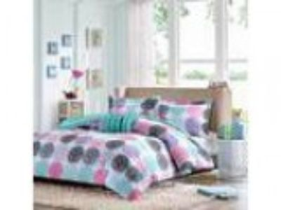 X Fullqueen Reversible Comforter Set Pink Teal Purple Bedding