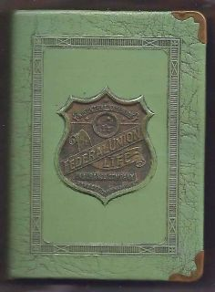 Antique Federal Union Life Insurance Book Bank-1920's era