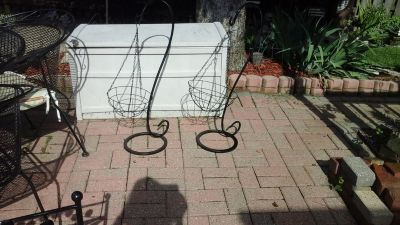 Like New Standing Shepard Hooks Plant Stands