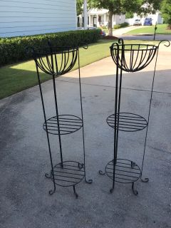 Wrought Iron Tiered Planter/Shelves