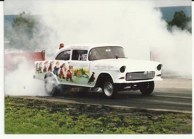 1955 chevy drag car