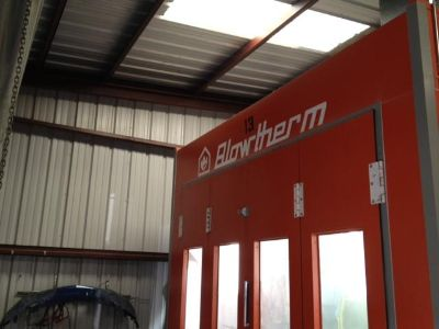 Purchase used automotive paint booth and chassis liner measurement system with acc. motorcycle in Hurricane, Utah, US, for US $35,000.00