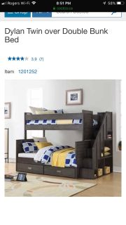 Costco by I bed twin over double