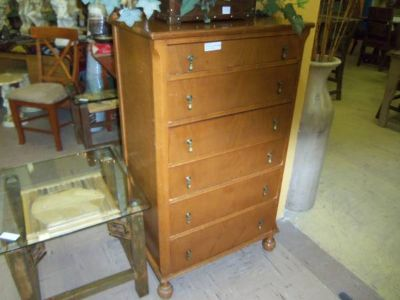 Solid Wood Older Chest of Drawers