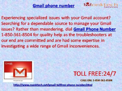 Do You fathom Gmail signal 1-850-361-8504 Toll-Free?