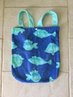 Cute Fish Cotton Terry Backpack ~ Great for Beach or Pool