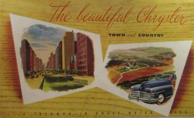 Sell 1946 Chrysler Sales Brochure Features Town and Country Woody Windsor New Yorker motorcycle in Holts Summit, Missouri, United States, for US $54.46