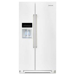 KitchenAid 24.8 cu. ft. Side by Side Refrigerator KRSF505EWH Closeout