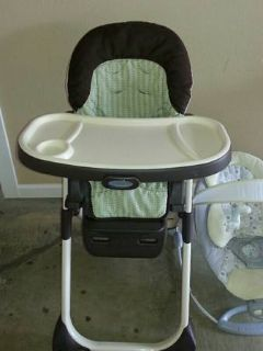 Bouncer, High Chair, and Swing