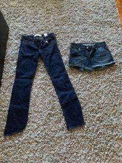 Size 6 jeans and shorts
