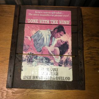 Vintage Wall Plaque Gone With The Wind