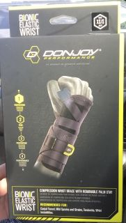 Brand new, XS/S, compression wrist brace with removable palm stay (left & right wrist available)!