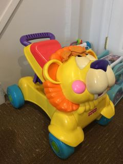 Lion ride-on/push toy