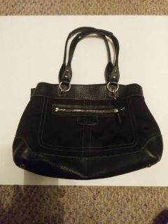 """COACH"" Black leather purse. Used.  Great condition"