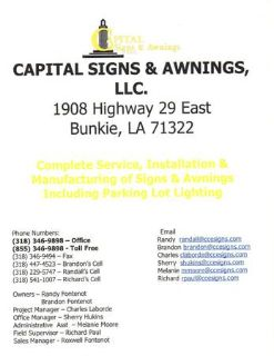 Sign manufacturing (Bunkie, La)