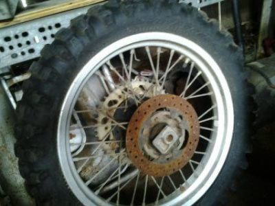 Purchase 1987 KTM Rear wheel and axle, rotor motorcycle in Lompoc, California, US, for US $55.00