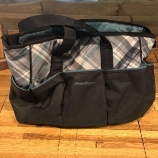 Like new Eddie Bauer diaper bag and changing pad.