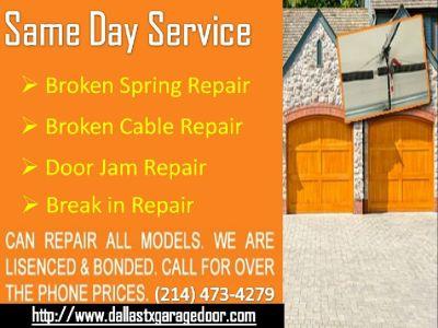 Trusted Garage Door Spring Repair Service in Dallas, TX