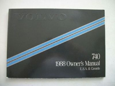 Buy Volvo 740 Owner's Manual 1988. Good Cond. Clear no owner info. motorcycle in Perris, California, United States, for US $18.00