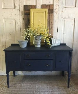 Antique Buffet- Navy