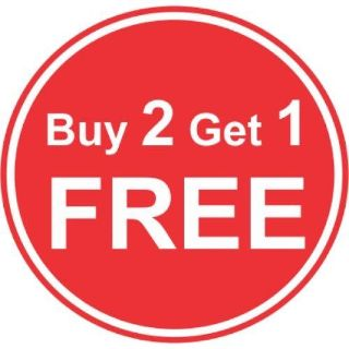 All items are buy 2 get 1 free