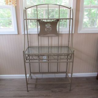 Bakers/ Wine Rack with Glass shelves