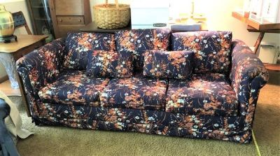 Sofa Sleeper - Queen Size - Floral Fabric
