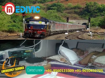 Take Advance Life Secure Train Ambulance in Kolkata by Medivic