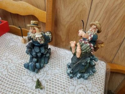 "Young's Inc ""Ole Saltz of the Sea"" Fisherman Figurines - Set of 2"