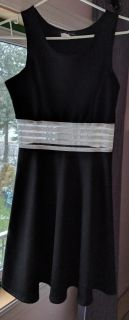 Black dress with sheer midriff area