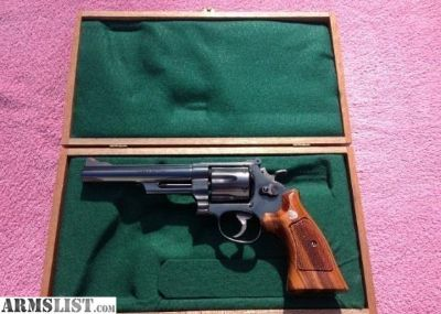 For Sale: Beautiful S&W Mod. 25-5 45 Colt 6 in ./Wood case.