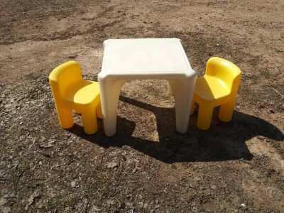 Little Tikes Table with Chairs and Little Tikes cart