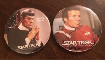 Vintage Wrath of Khan Pins