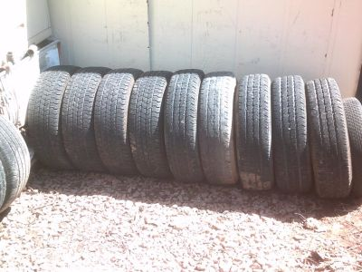 NICE ASSORTMENT OF USED TIRES. IDEAL FOR SPARE.
